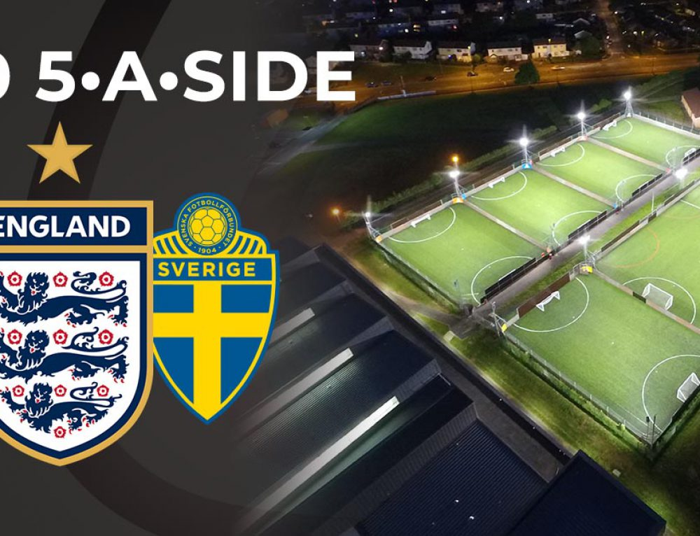 Play 5-a-side for £10 if England beat Sweden
