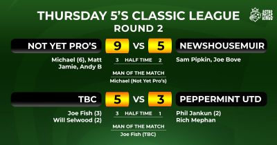 Thursday Classic 5-a-side League Week 2 Report