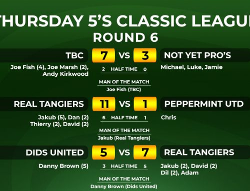 Thursday Classic 5-a-side League Week 6 Report