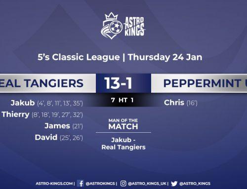 Men's Thursday Classic 5's League '19 – 24.1.19